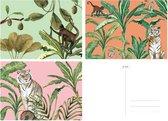 &INK Wenskaarten set - 15 stuks - Botanische Jungle - Blanco