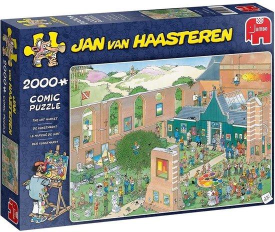 Afbeelding van Jan van Haasteren De Kunstmarkt Puzzel 2000 stukjes