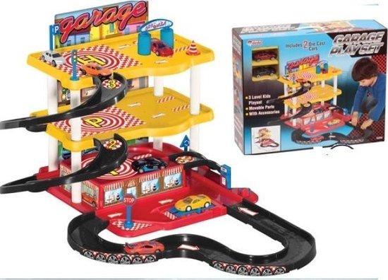 Afbeelding van Dede-Toys-Garage Set-3 Verdiepingen-met autos -Vanaf 3+ jaar-Non Toxic speelgoed