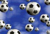 Fotobehang Vlies   Voetbal   Blauw   368x254cm (bxh)