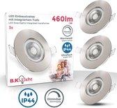 B.K.Licht - LED Inbouwspots badkamer - spots verlichting - dimbaar - ultra plat - IP44 - Ø9cm - 3.000K - Set van 3