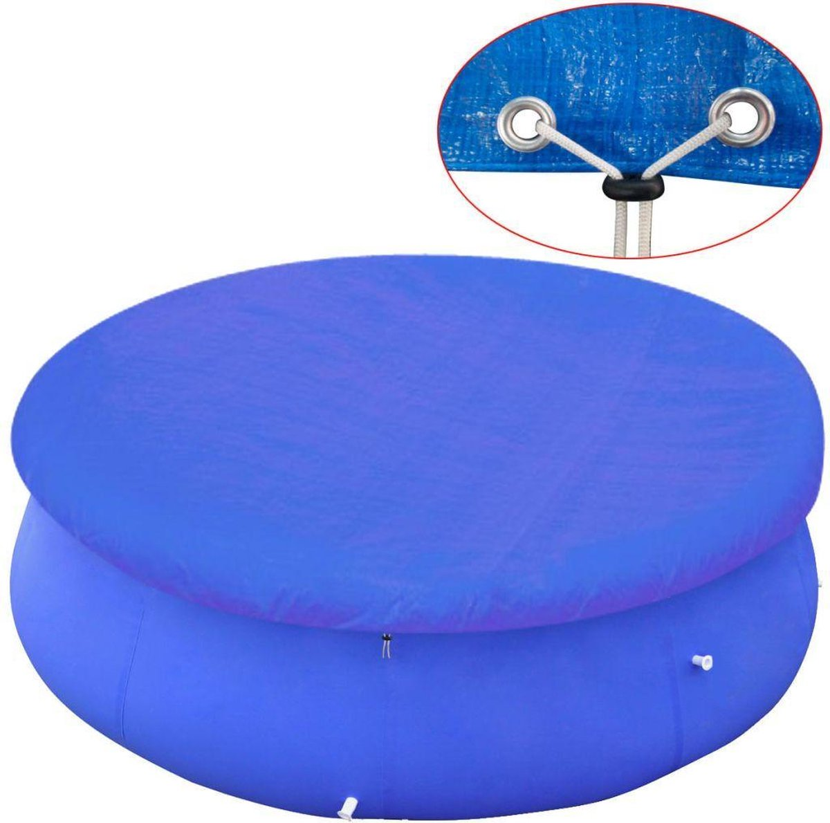 Zwembadhoes rond 90 g/m² 300 cm PE