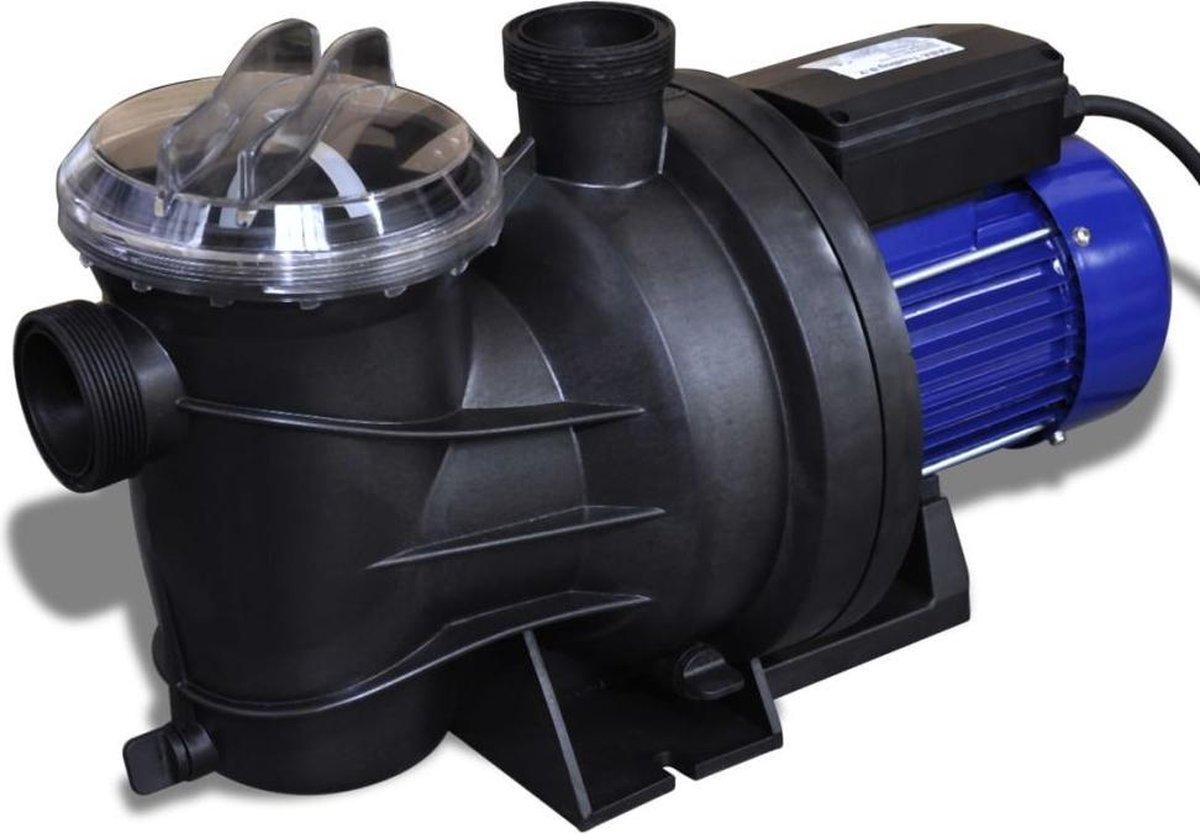 Elektrische zwembadpomp - Zwart en blauw - 800W - Zeef filter - 16.000 liter per uur doorstroomsnelheid