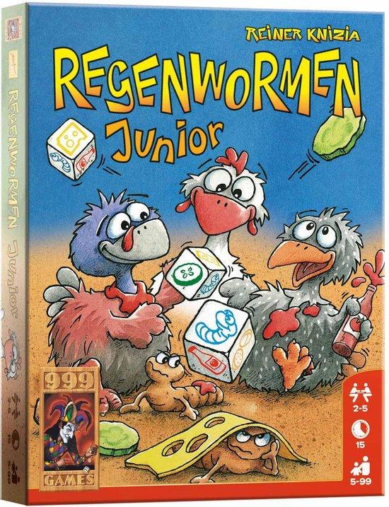 Regenwormen Junior (A13) Dobbelspel - 999 Games