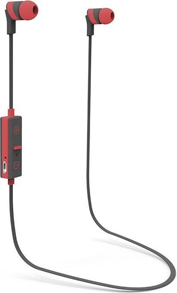 X-ONE ASBT1000R Headset In-ear Zwart, Rood