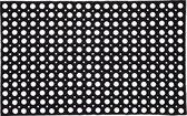 2x Grote rubberen deurmatten/buitenmatten 50 x 80 cm - Deurmatten/buitenmatten/schoonloopmatten rubber
