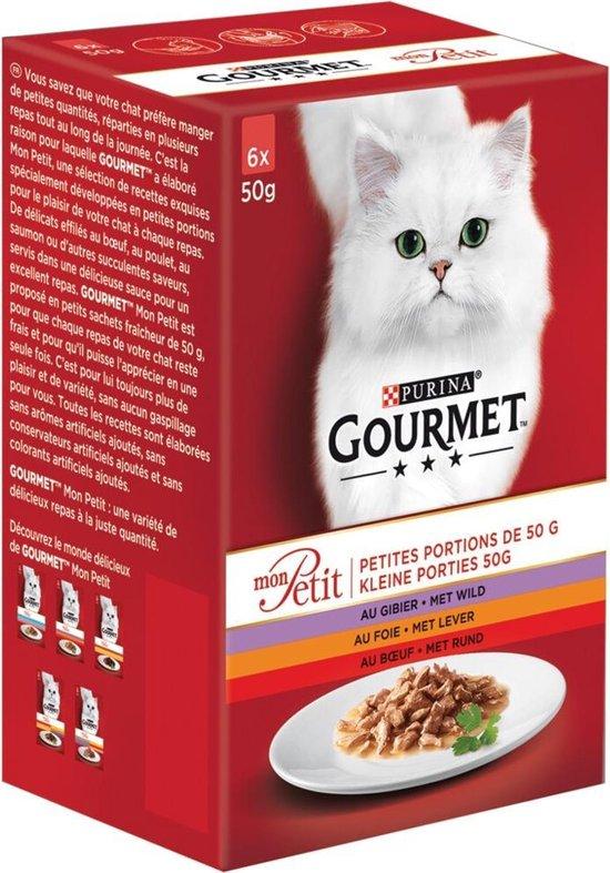 gourmet mon petit - wild, lever en rund - kattennatvoer - 24 x 50 g