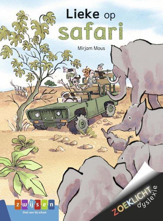 Boek cover Zoeklicht Dyslexie - Lieke op safari van Mirjam Mous (Hardcover)