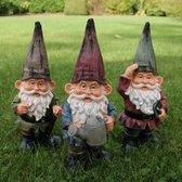 Tuinierende kabouters - set van 3 stuks