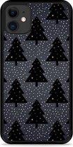 iPhone 11 Hardcase hoesje Snowy Christmas Trees