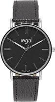 Regal - Regal slimline horloge met een zwarte band