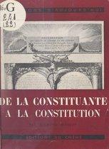 De la Constituante à la constitution