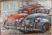 Wanddecoratie auto's 120*7*80 cm Multi | 5WA0159 | Clayre & Eef