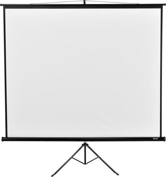 Projectiescherm met in hoogte verstelbaar statief 203x203 cm