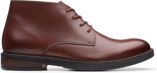 Clarks - Herenschoenen - Paulson Mid - G - mahogany leather - maat 8