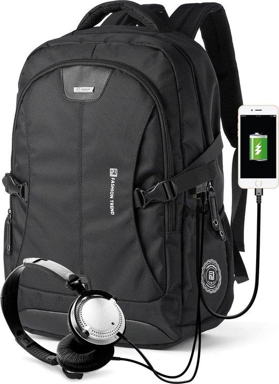 "Next Generation Rugzak - Multifunctioneel - Laptop vak 15,6""Inch - USB station - Stereo Jack koptelefoon aansluiting  - schooltas - survivalrugzak - backpack - GPS game Rugzak."