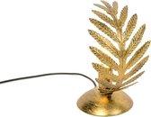 QAZQA botanica - Tafellamp - 1 lichts - H 240 mm - Goud/messing