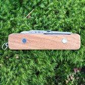 Kikkerland Huckleberry Zakmes - Mijn Eerste Zakmes editie - 4 basisfuncties - Ideaal voor kamperen - Roestvrij staal -