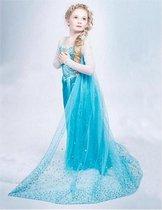 Prinses Frozen Elsa | Jurkje | Verkleedpak | Disney Prinses Frozen | Kids | Meisjes | Princess Jurk | Kostuum | Frozen 2 Film | Maat 122 | 5 - 7 Jaar