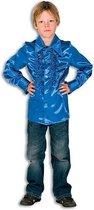 Rouches blouse kobalt voor jongens 116