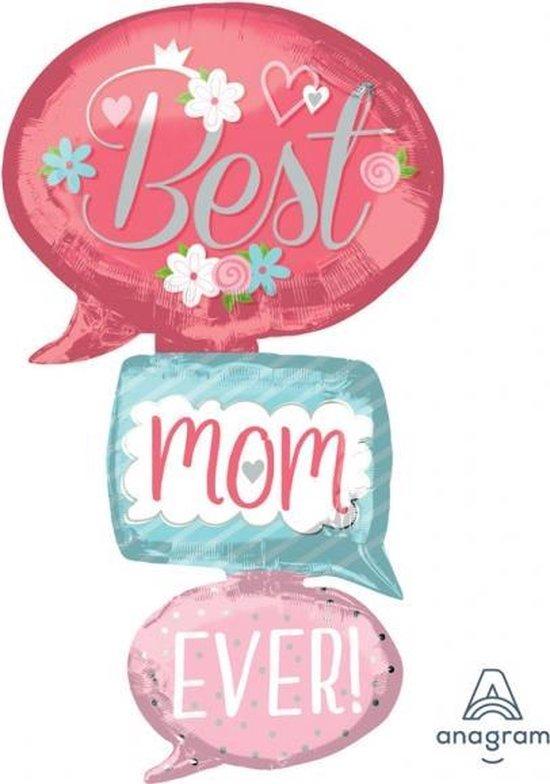 Multi-Ballon Best Mom Ever Bubbles Foil Balloon P70 packed 7