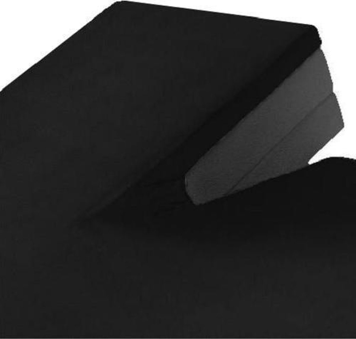 Split Topper Jersey Hoeslaken Zwart 200 x 200/220