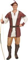 LUCIDA - Bruin Robin Hood kostuum voor mannen - M - Volwassenen kostuums