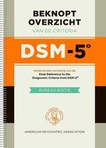 Beknopt overzicht van de criteria DSM-5