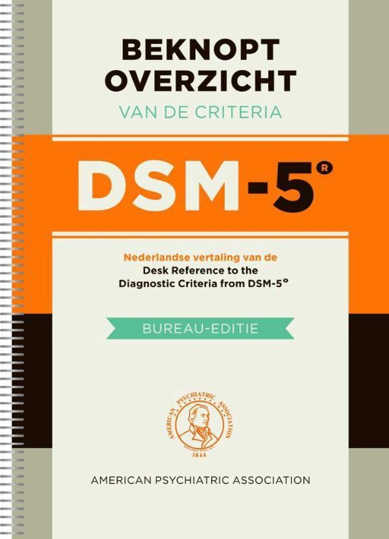 Boek cover Beknopt overzicht van de criteria DSM-5 van American Psychiatric Association (Paperback)