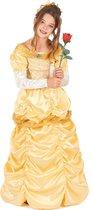 LUCIDA - Geel satijnachtig prinses kostuum voor meisjes - L 128/140 (10-12 jaar) - Kinderkostuums