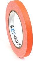 Pro  - Gaff neon gaffa tape 12mm x 22,8m oranje