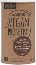 Vegan Protein Mix: Pea/rice/pumpk/sunfl/ Hemp/cacao/chocolade (400 Gram) - Purasana
