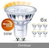 Philips LED Spot GU10 lichtbron - 3,8W - Warm wit licht - Dimbaar - 6 stuks