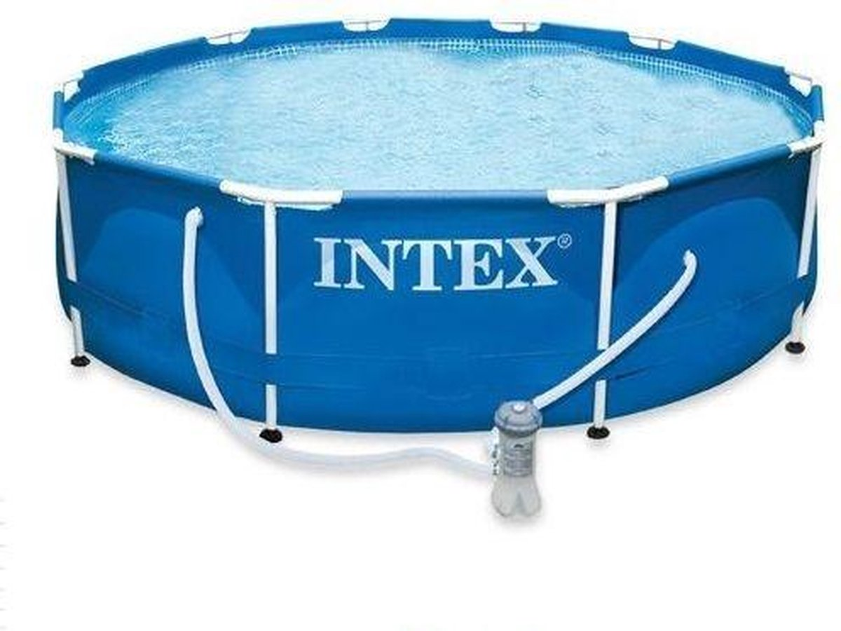 opzetzwembad met pomp 28212GN 366 x 76 cm blauw