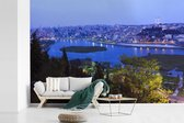 Fotobehang vinyl - Schitterend blauw water voor Istanbul breedte 420 cm x hoogte 280 cm - Foto print op behang (in 7 formaten beschikbaar)
