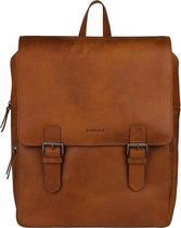 BURKELY On The Move Backpack 14'' Zipper Inclusief Powerbank - Rugzak - Cognac