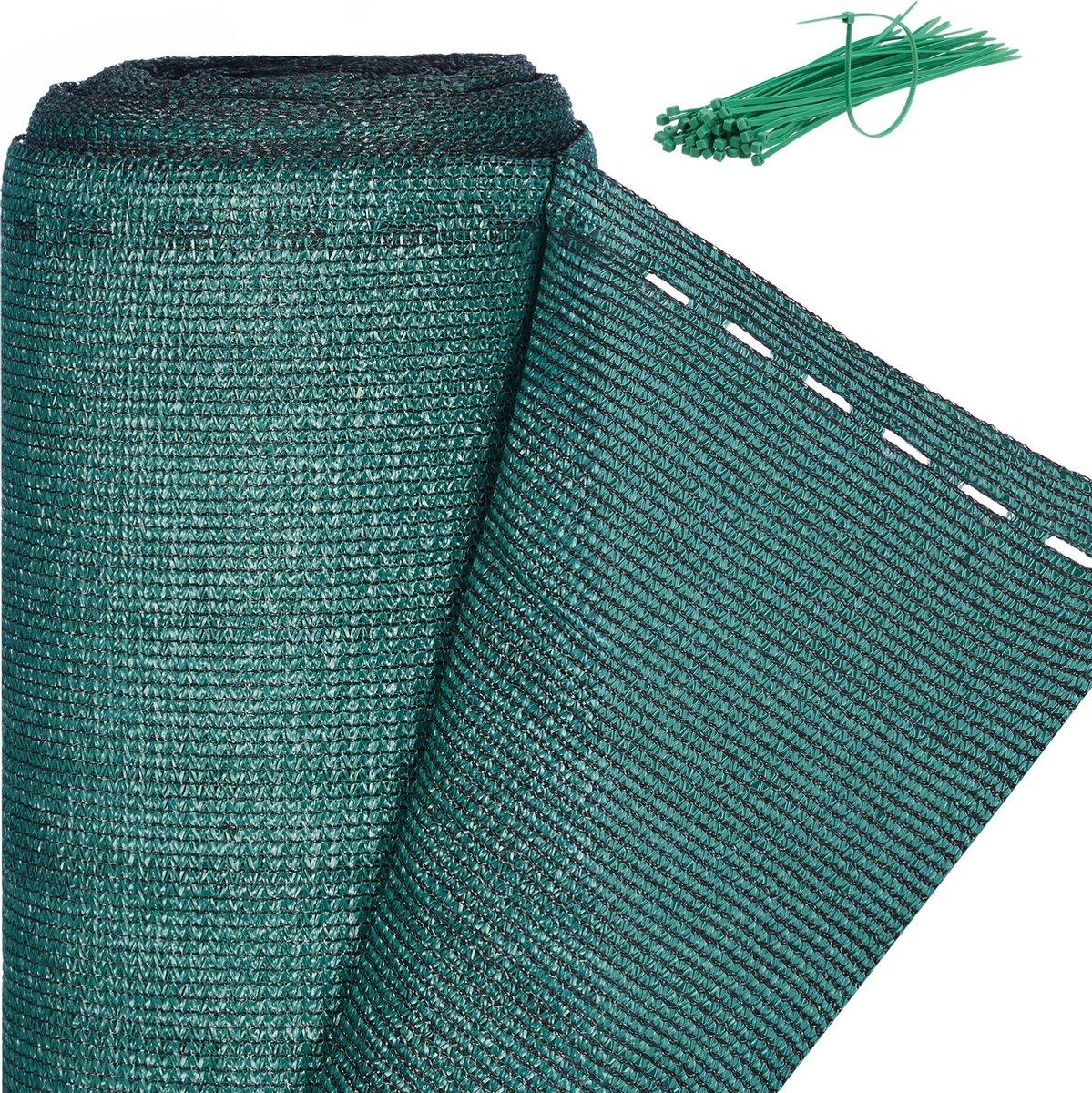 relaxdays zichtbreeknet groen 200 cm - zichtdoek - tuinhekbekleding - privacydoek 2,0 x 6 meter