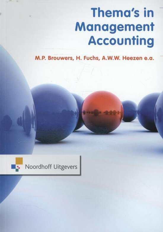 Boek cover Themas in management accounting RUG van P. de Boer (Paperback)