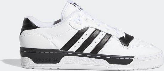 adidas Rivalry Low Heren Sneakers - Cloud White/Cloud White/Core Black - Maat 46 2/3