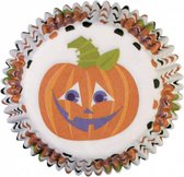Wilton Halloween Mini Baking Cups Happy Pumpkin Cupcake Cases Mini 100 stuks Bakken en Traktaties - Multi