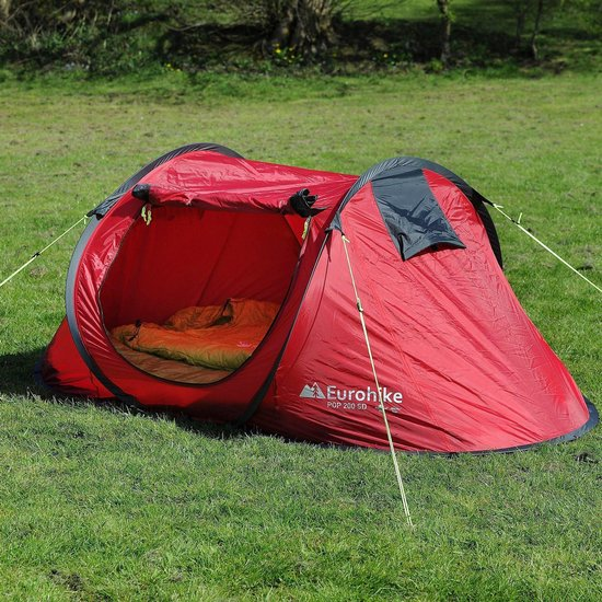 EUROHIKE POP UP 200 SD 2 PERSOONS TENT ROOD
