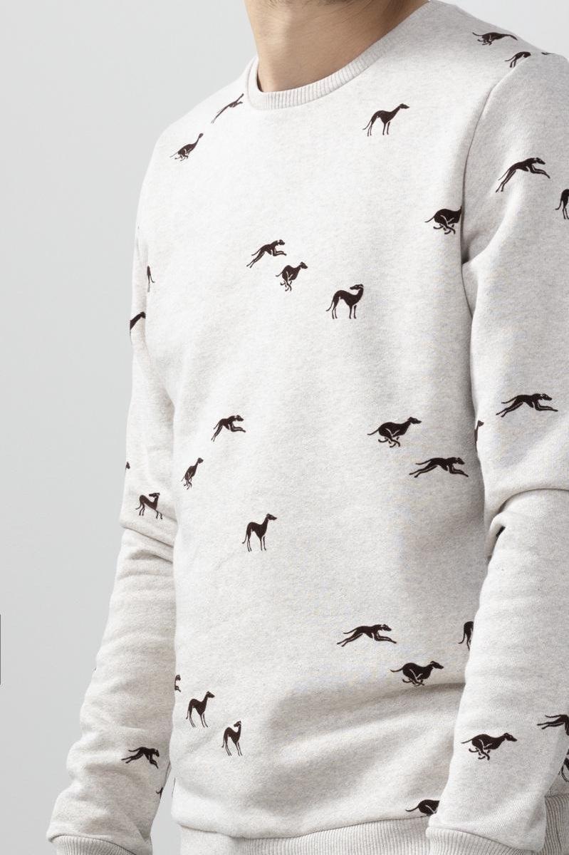 Sissy-Boy - Beige sweater met print