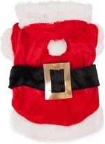 Honden Kerstkostuum - Dierenkleding - Rood/Wit - 40 cm