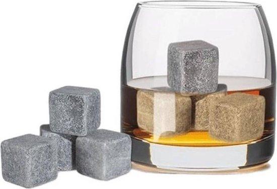 6x Whiskey/whisky stenen 2,5 cm - Whiskeystenen/whiskystenen - Cadeau voor de liefhebber