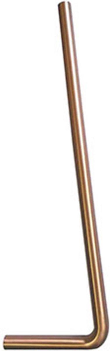 Wiesbaden vloerbuizen 750x220x32 lang - Geborsteld Koper