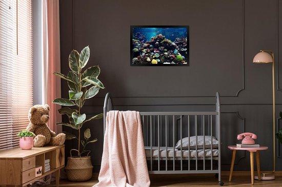 Bol Com Foto In Lijst Aquarium Met Tropische Vissen En Koralen Fotolijst Zwart 60x40 Cm