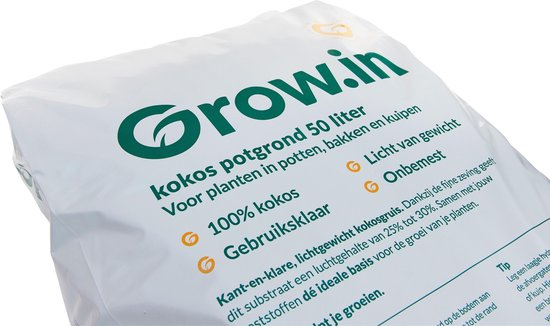 Grow.in kokos potgrond 50 ltr - ready to use