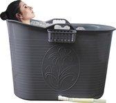 EKEO - Zitbad Voor Volwassenen - Bath Bucket - Zilver - 92 x 50 cm - 200L