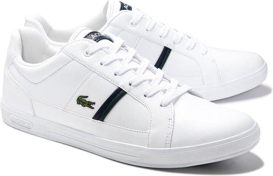 Lacoste Europa 0120 1 SMA Heren Sneakers - White/Dark Green - Maat 43
