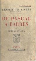 De Pascal à Barrès